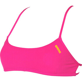 arena Play Bandeau Top Mujer, fresia rose-yellow star